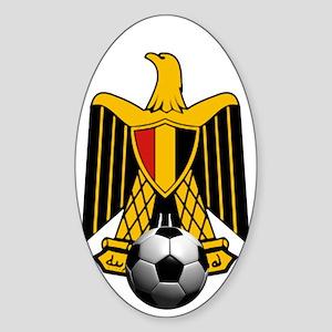 Egyptian Football Eagle Sticker (Oval)