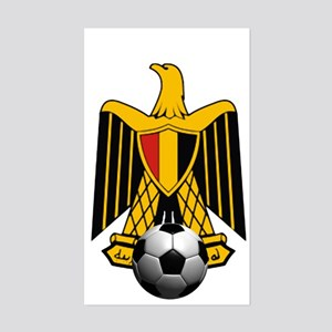 Egyptian Football Eagle Sticker (Rectangle)