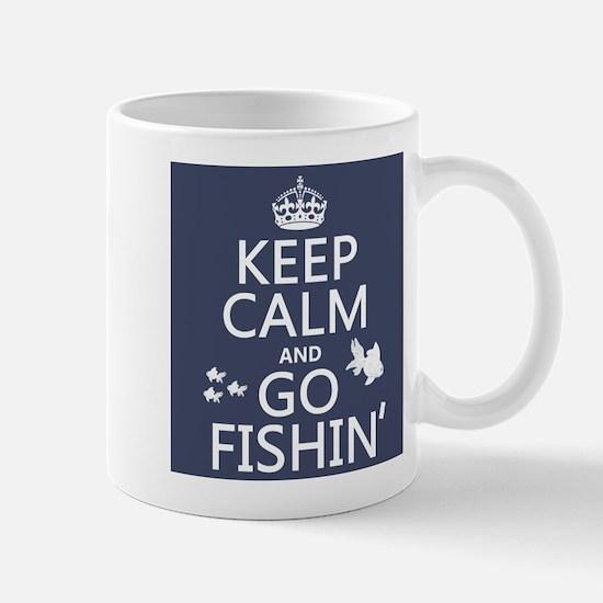 Keep Calm and Go Fishin' Small Mug