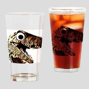 Google eye dinosaur Drinking Glass