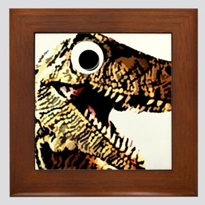 Google eye dinosaur Framed Tile