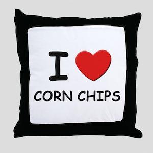 I love corn chips Throw Pillow