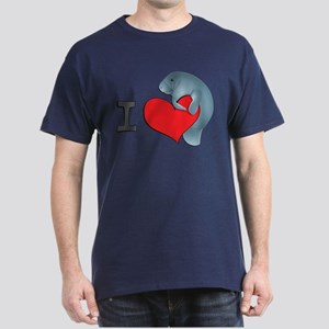 I heart manatees Dark T-Shirt