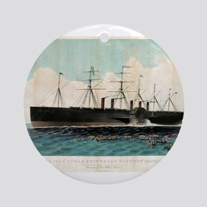 The iron steam ship Great Eastern - 1858 Round Orn