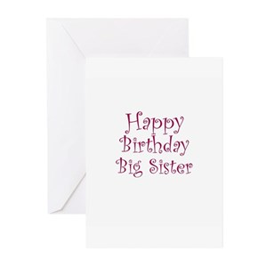 Only Child Big Sister Greeting Cards