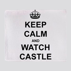 """""""Keep Calm And Watch Castle"""" Throw Blanket"""