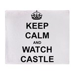 """Keep Calm And Watch Castle"" Throw Blanket"