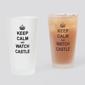 """Keep Calm And Watch Castle"" Drinking Glass"