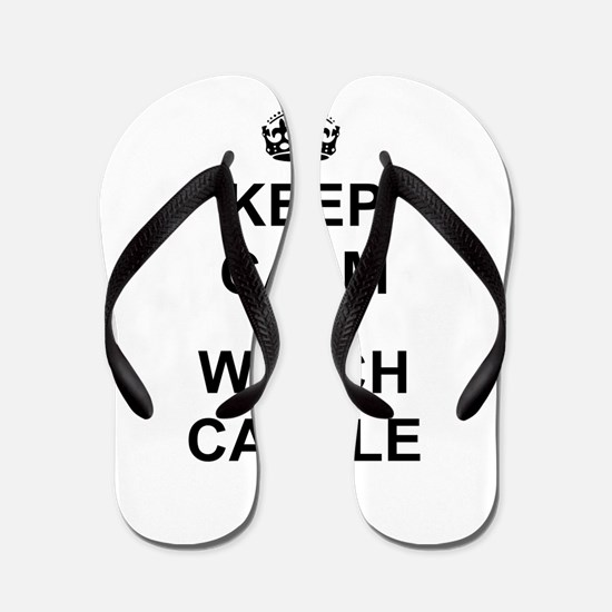 """Keep Calm And Watch Castle"" Flip Flops"
