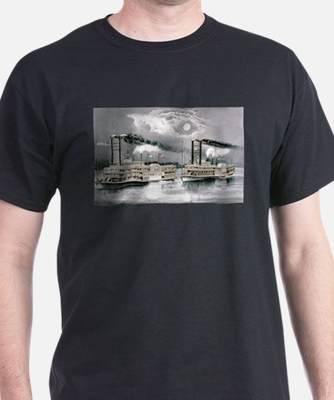 The great Mississippi steamboat race - 1870 T-Shir