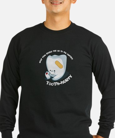 Tooth-Hurty - White Text Long Sleeve T-Shirt