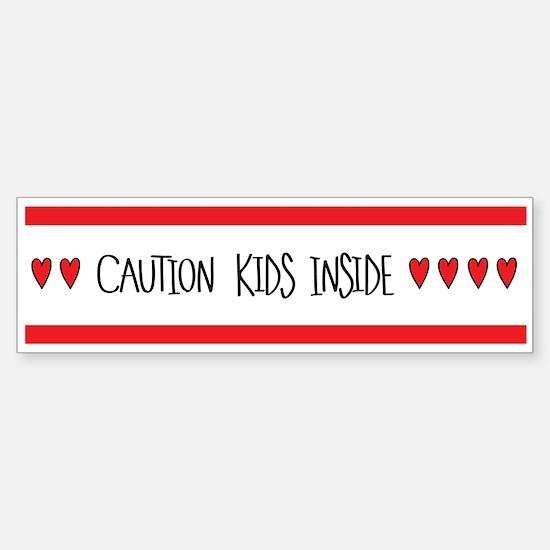 Caution Kids Inside Bumper Car Car Sticker