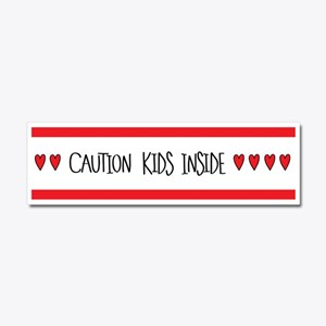 Caution Kids Inside Car Magnet 10 X 3