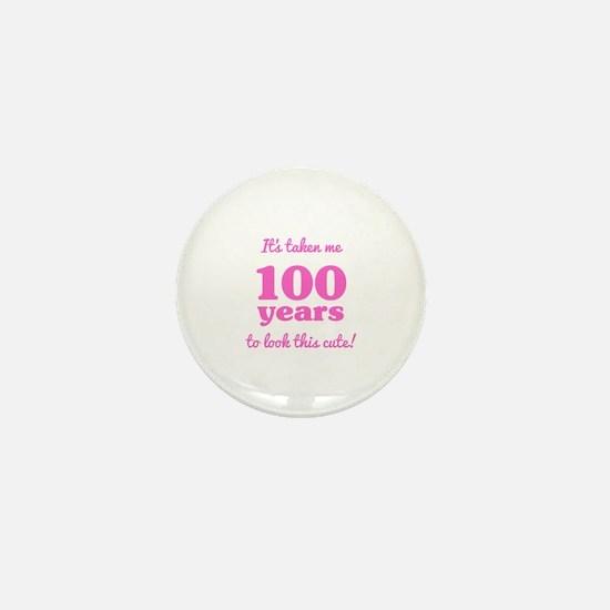 Cute 100th birthday party Mini Button
