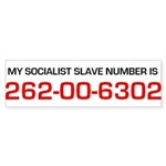 Socialist Slave Bumper Sticker By Artist Rex Curry