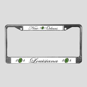 Fleur 504, green License Plate Frame