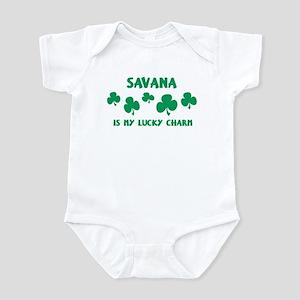Savana is my lucky charm Infant Bodysuit