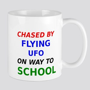 Chased By Flying UFO On Way To School Mug
