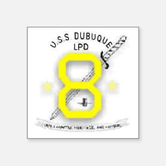 "NavyShipPatchUSSDubuque.gif Square Sticker 3"" x 3"""