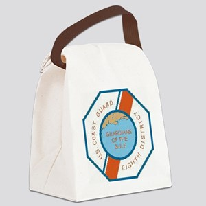 CoastGuardPatchEighthDistrict Canvas Lunch Bag