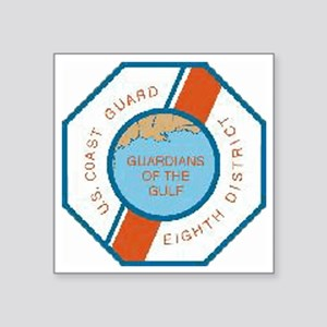 "CoastGuardPatchEighthDistri Square Sticker 3"" x 3"""