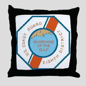 CoastGuardPatchEighthDistrict Throw Pillow