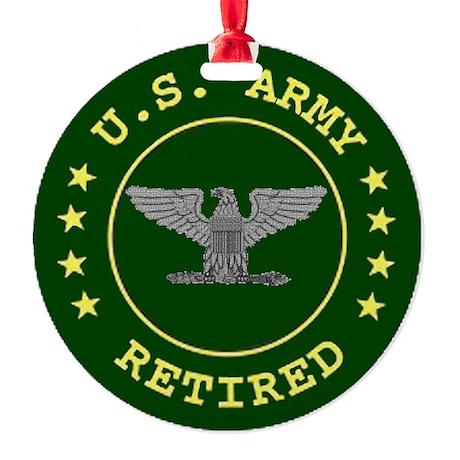 retiredarmycolonel.gif Round Ornament
