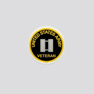 ArmyVeteranCaptainBlack Mini Button
