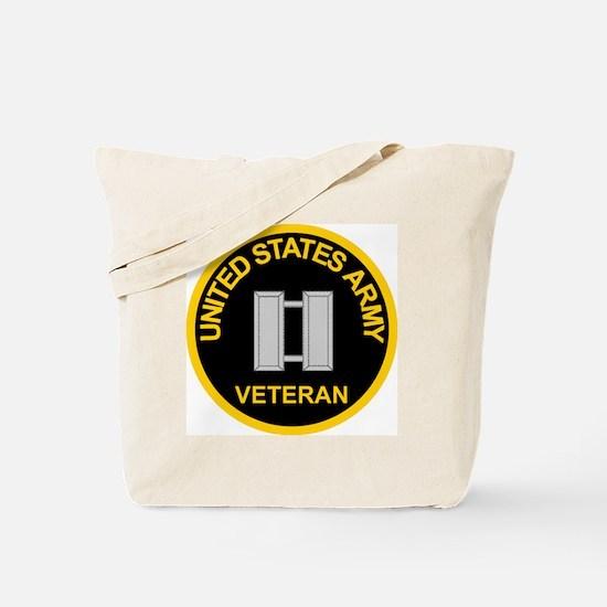 ArmyVeteranCaptainBlack.gif Tote Bag