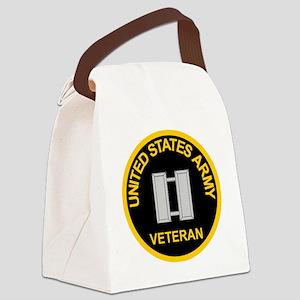 ArmyVeteranCaptainBlack Canvas Lunch Bag