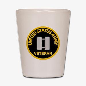 ArmyVeteranCaptainBlack.gif Shot Glass