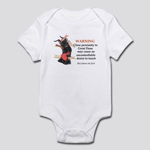 C Blk Warning2 Infant Bodysuit