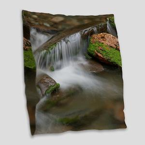 Peaceful Cascade Burlap Throw Pillow