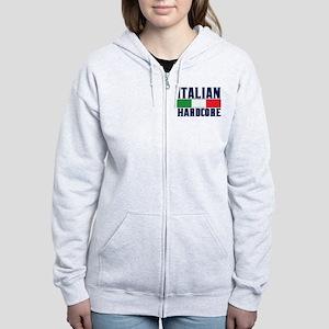 Italian Hardcore Women's Zip Hoodie