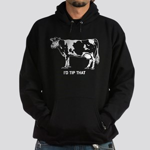 I'd Tip That Cow Hoodie (dark)