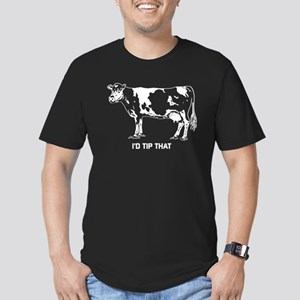 I'd Tip That Cow Men's Fitted T-Shirt (dark)