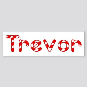 Trevor - Candy Cane Bumper Sticker