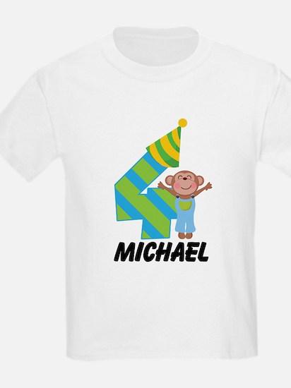 4th Birthday Personalized Boys T-Shirt