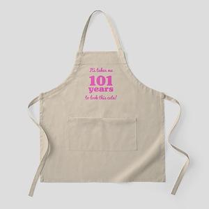 Cute 101st Birthday For Women Light Apron