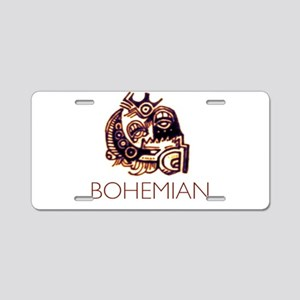 Bohemian Aluminum License Plate