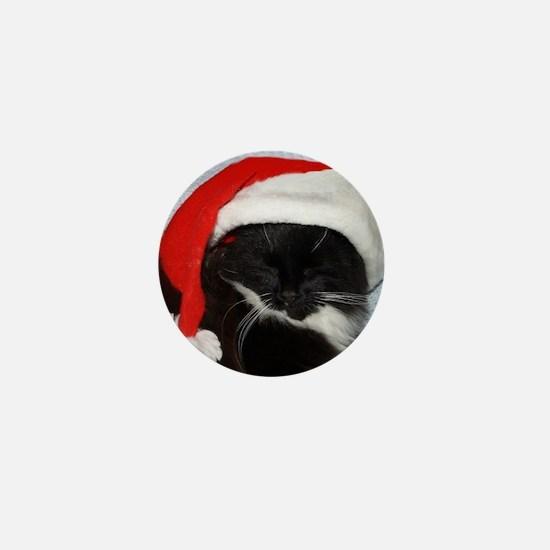 Little Christmas Cat Mini Button
