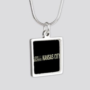 Black Flag: Kansas City Silver Square Necklace