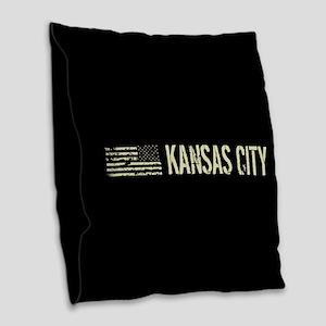 Black Flag: Kansas City Burlap Throw Pillow