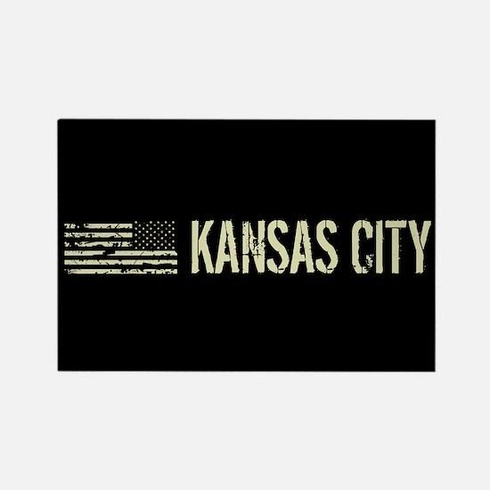 Black Flag: Kansas City Rectangle Magnet