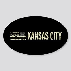 Black Flag: Kansas City Sticker (Oval)