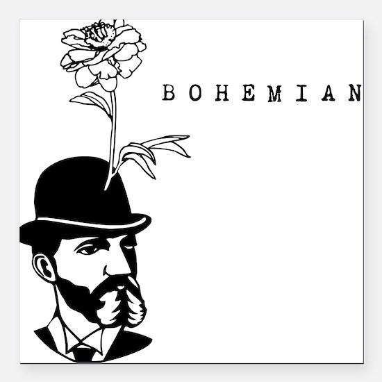 "Bohemian Square Car Magnet 3"" x 3"""