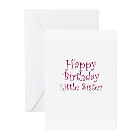 Happy birthday little sister greeting cards packa by celebrateshop happy birthday little sister greeting cards packa m4hsunfo