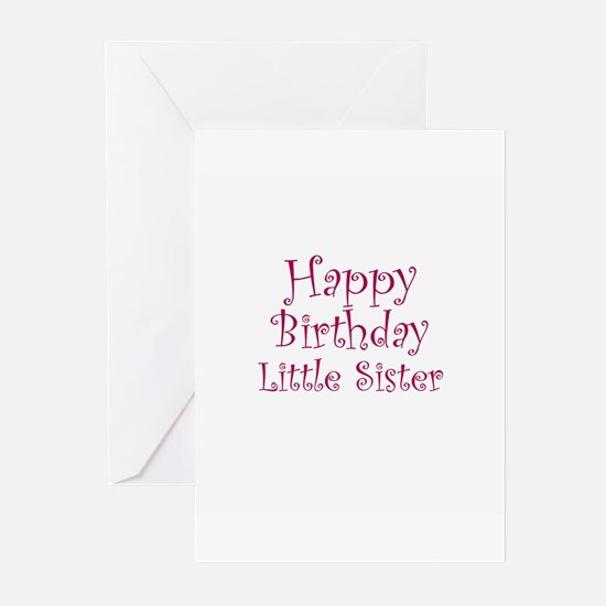 Happy Birthday Little Sister Greeting Cards (Packa