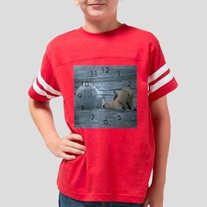 polar bear clock Youth Football Shirt