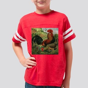 rooster clock Youth Football Shirt